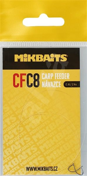 Mikbaits Návazec Carp Feeder CFC Velikost 8 2ks - Návazec