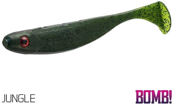 Delphin BOMB! Rippa 8cm Jungle 5ks - Gumová nástraha