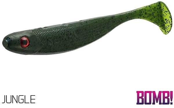 Delphin BOMB! Rippa 10cm Jungle 5ks - Gumová nástraha