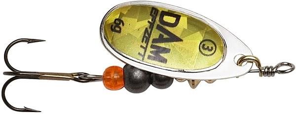 Effzett Fluo Spinner 3g Velikost 1 Gold Prisma - Třpytka