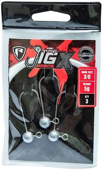 FOX Rage Jig X Heads 15g Velikost 6/0 3ks - Jigová hlavička