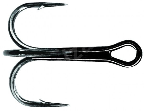 Mustad NP Round Bend Treble Hook Velikost 2 6ks - Trojháček