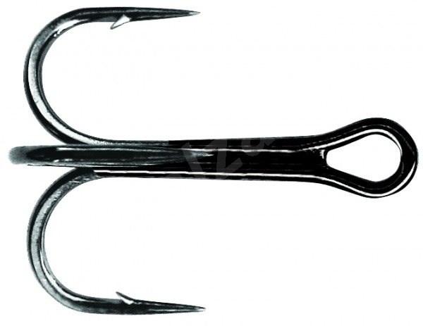 Mustad NP Round Bend Treble Hook Velikost 6 6ks - Trojháček