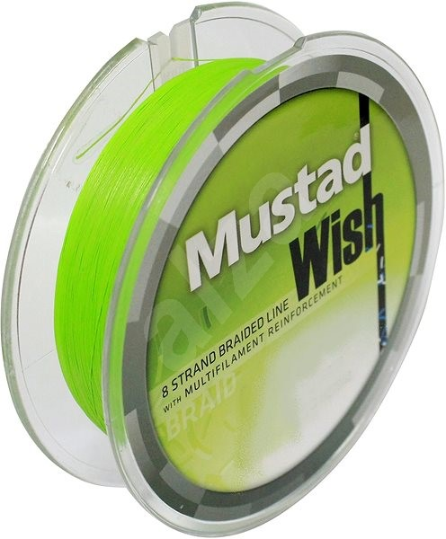 Mustad Wish Braid 0,12mm 28lb 12,7kg 110m Chartreuse - Šňůra