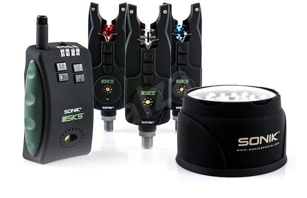 Sonik SKS 3+1 Alarm + Bivvy Lamp - Sada hlásičů