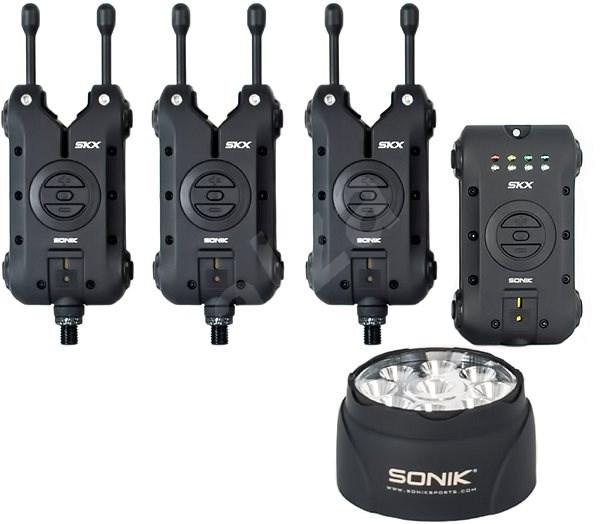 Sonik SKX 3+1 Alarm + Bivvy Lamp - Sada hlásičů