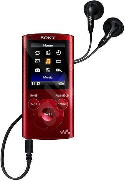 Sony WALKMAN NWZ-E384 červený - MP3 přehrávač