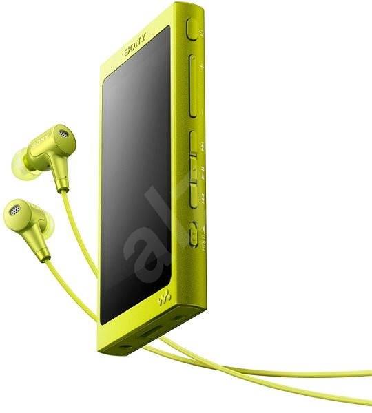 Sony Hi-Res WALKMAN NW-A35 žlutý + sluchátka MDR-EX750 - FLAC přehrávač