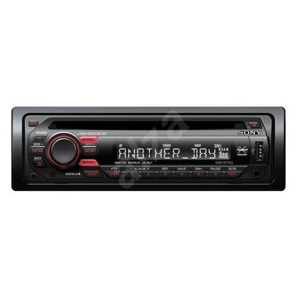 Autorádio Sony CDX-GT31U černé (black), CD/ MP3/ WMA/ AAC, ID3 tag, přední vstup + USB, FM/AM tuner  -