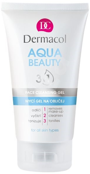 DERMACOL Aqua Beauty 3in1 Face Cleaning Gel 150 ml - Čisticí gel