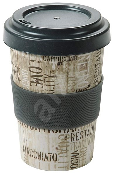 Kesper Kelímek bambusový na kávu 400ml COFFEE LETTERS - Termohrnek
