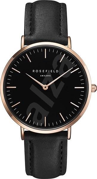 ROSEFIELD The Bowery Black Black Rosegold - Dámské hodinky