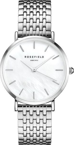 ROSEFIELD The Upper East Side White MOP Silver - Women's Watch