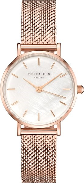 ROSEFIELD The Small Edit Rose gold mesh bracelet - Women's Watch