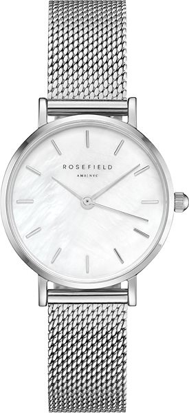 ROSEFIELD The Small Edit Silver mesh bracelet - Dámské hodinky