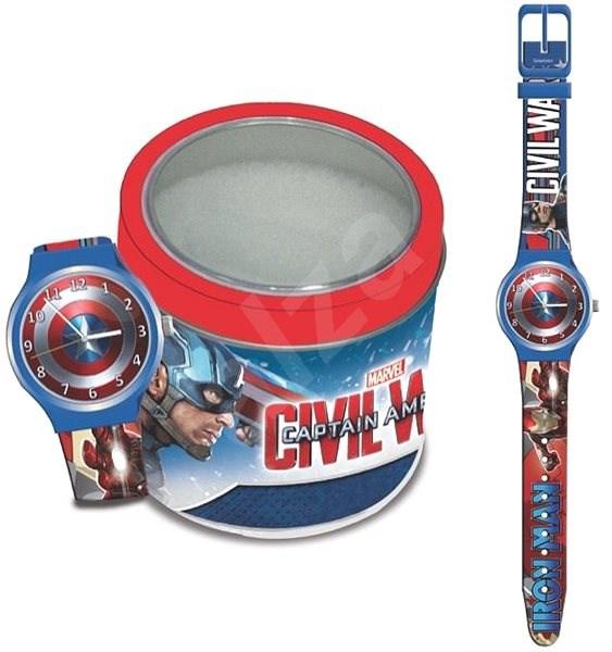 MARVEL Capitain America - Tin Box 500655 - Dětské hodinky