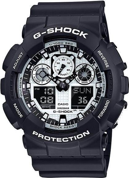 CASIO G-SHOCK GA 100BW-1A - Pánské hodinky