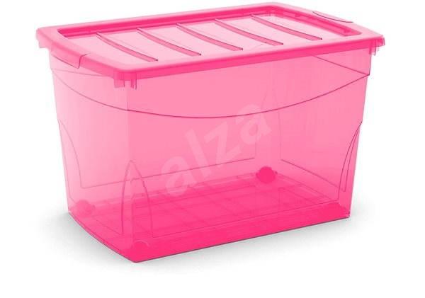 KIS Omnibox XL růžový 60l na kolečkách - Úložný box