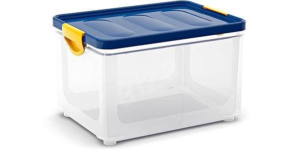 86db59cab KIS Clipper Box L průhledny-modré víko 33l - Úložný box | Alza.cz