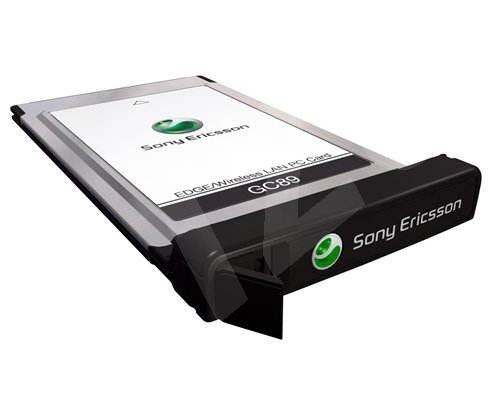 Sony Ericsson GC89 PCMCIA typ II, 4-band GSM/ GPRS (class 10)/ HSCSD (9600, 14400bps)/ EDGE (class 1 -