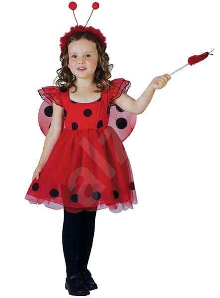 Šaty na karneval - Beruška vel. S - Dětský kostým  f7ab5646ba4