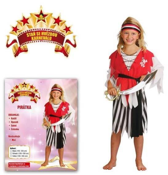 cafac42b3329 Šaty na karneval - Pirátka vel. S - Dětský kostým