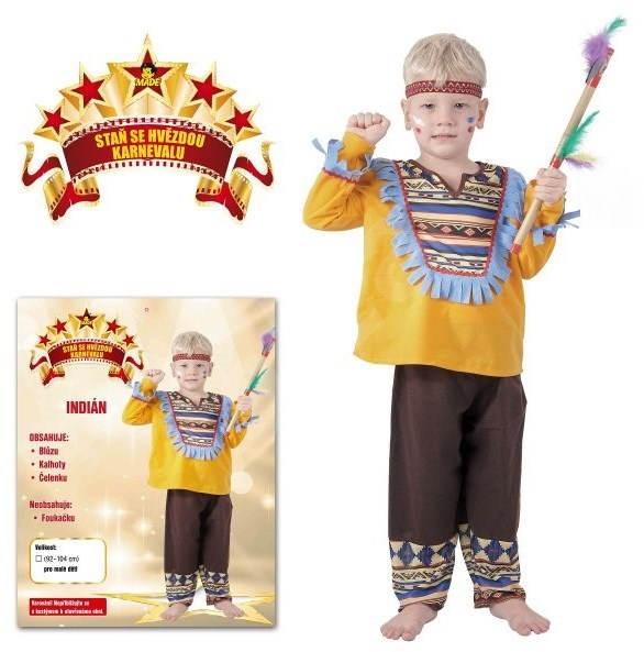 Kostým Indián vel. S - Dětský kostým  a986c43eb3