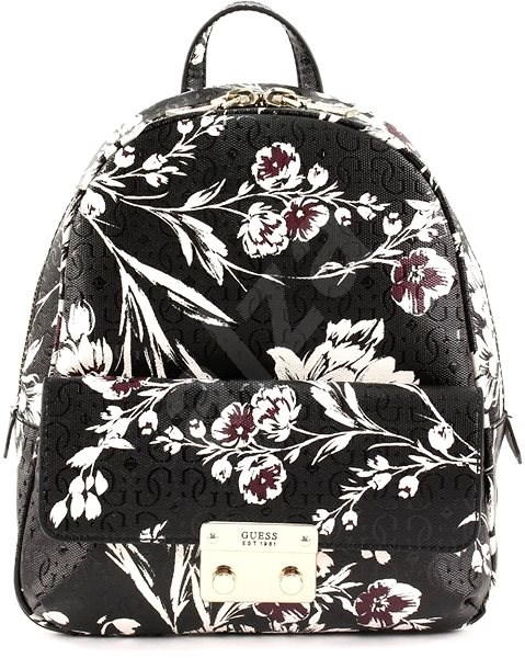 GUESS batoh SF711031 Black floral - Batoh  a34a776d88