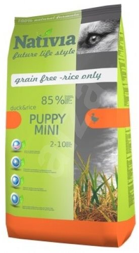 Nativia Puppy mini - Duck & Rice 3 kg - Granule pro štěňata