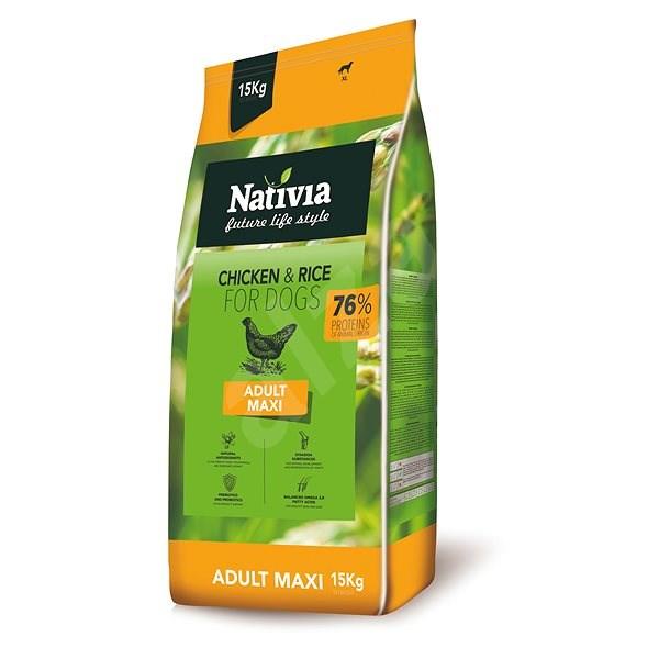 Nativia Adult maxi - Chicken & Rice 15 kg - Granule pro psy