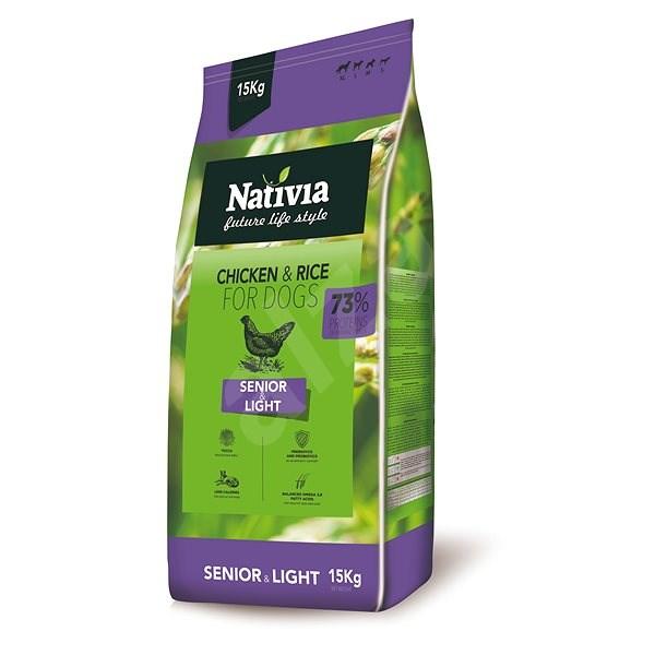 Nativia Senior & Light - Chicken & Rice 15 kg - Granule pro psy