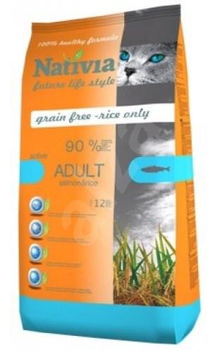Nativia Active – Salmon & Rice 10 kg - Granule pro kočky