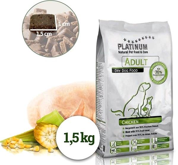 Platinum natural adult chicken kuřecí 1,5 kg - Granule pro psy