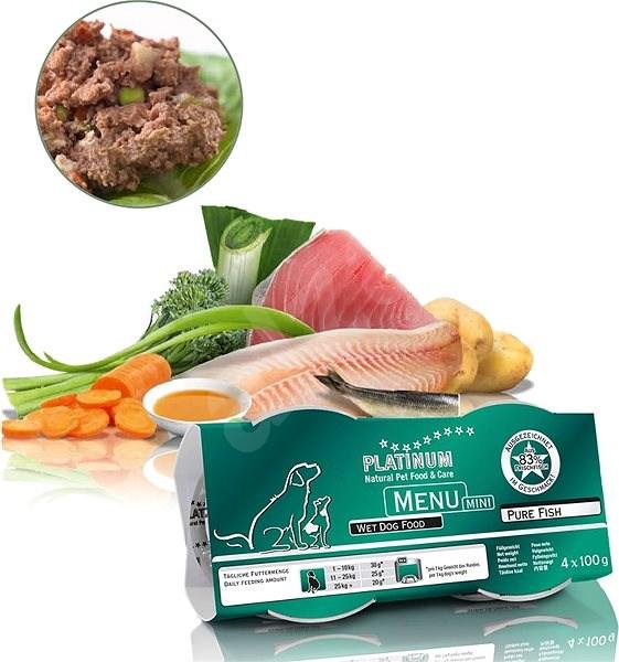 Platinum natural menu mini pure fish ryby 4 x 100 g - Paštika pro psy
