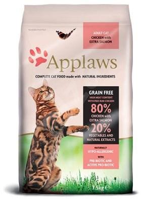 Applaws granule Cat Adult kuře s lososem 7,5 kg - Granule pro kočky
