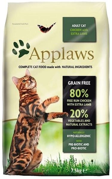 Applaws granule Cat Adult kuře s jehněčím 7,5 kg - Granule pro kočky