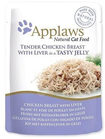 Applaws kapsička Cat Jelly kuřecí prsa a kuřecí játra v želé 70 g - Kapsička pro kočky