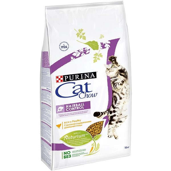 Cat Chow special care hairball control 15 kg - Granule pro kočky