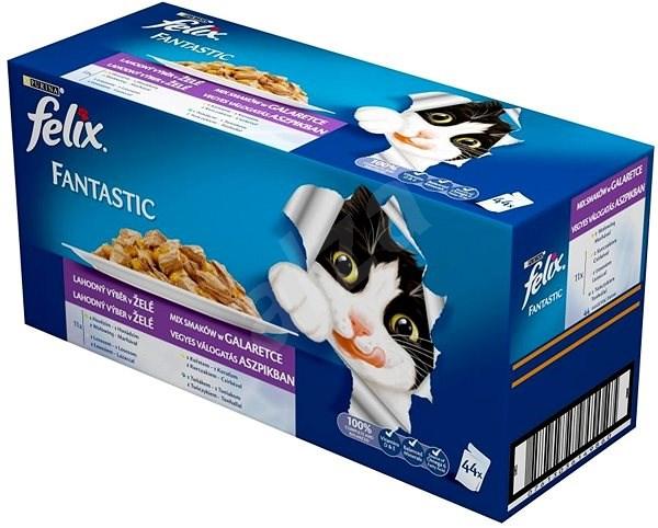 Felix fantastic (44 × 100g) - výběr mix v želé - Kapsička pro kočky