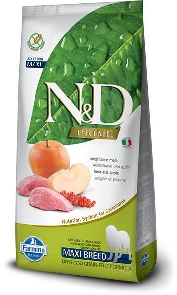 N&D grain free dog adult maxi boar & apple 12 kg - Granule pro psy