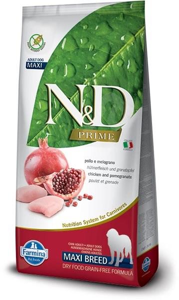 N&D grain free dog adult maxi chicken & pomegranate 12 kg - Granule pro psy