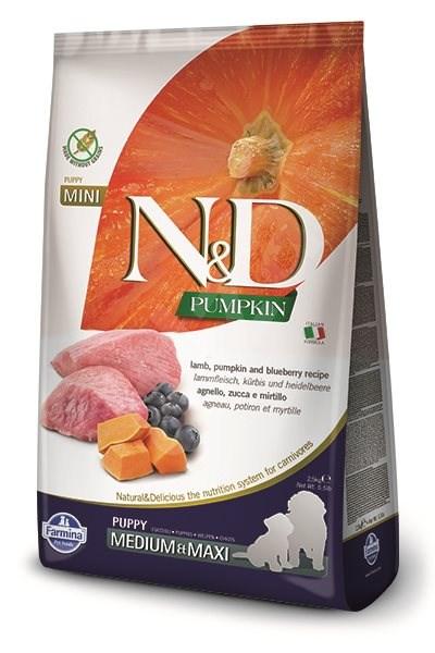 N&D grain free pumpkin dog puppy M/L lamb & blueberry 2,5 kg - Granule pro štěňata
