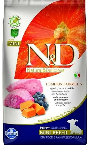 N&D grain free pumpkin dog puppy mini lamb & blueberry 2,5 kg - Granule pro štěňata
