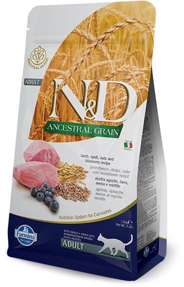 N&D low grain cat adult lamb & blueberry 5 kg - Granule pro kočky