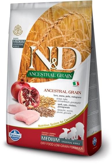 N&D low grain DOG Puppy M/L Chicken & Pomegranate 2,5 kg - Granule pro štěňata