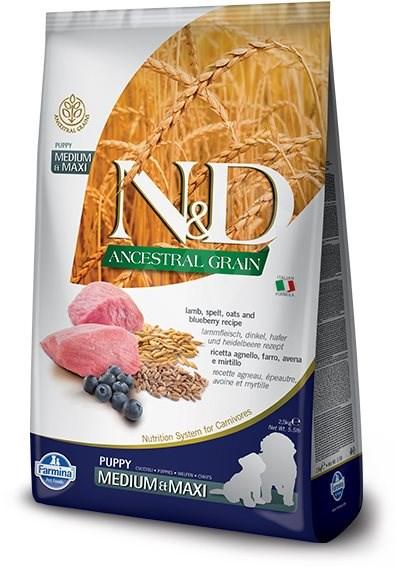 N&D low grain DOG Puppy M/L Lamb & Blueberry 2,5 kg - Granule pro štěňata