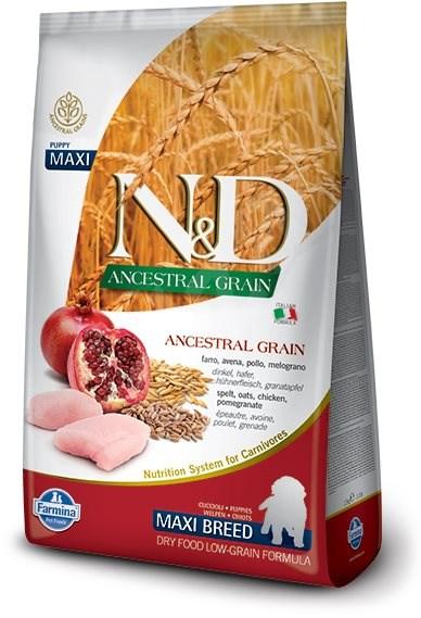 N&D low grain DOG Puppy Maxi Chicken & Pomegr 12 kg - Granule pro štěňata