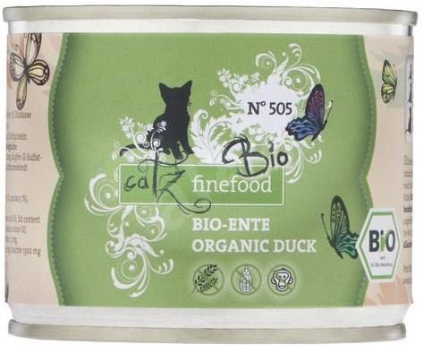 Catz finefood Bio - s kachním masem 200 g - Konzerva pro kočky