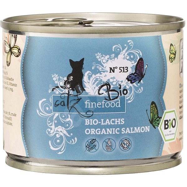 Catz finefood Bio - s lososem 200 g - Konzerva pro kočky