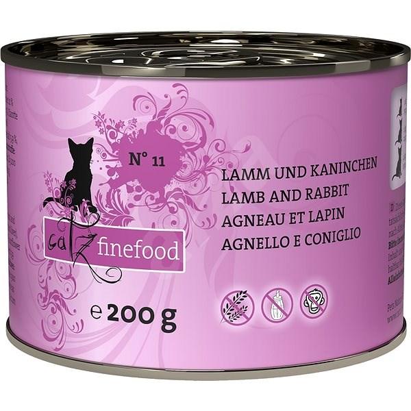 Catz finefood - s jehněčím a králičím m. 200g - Konzerva pro kočky